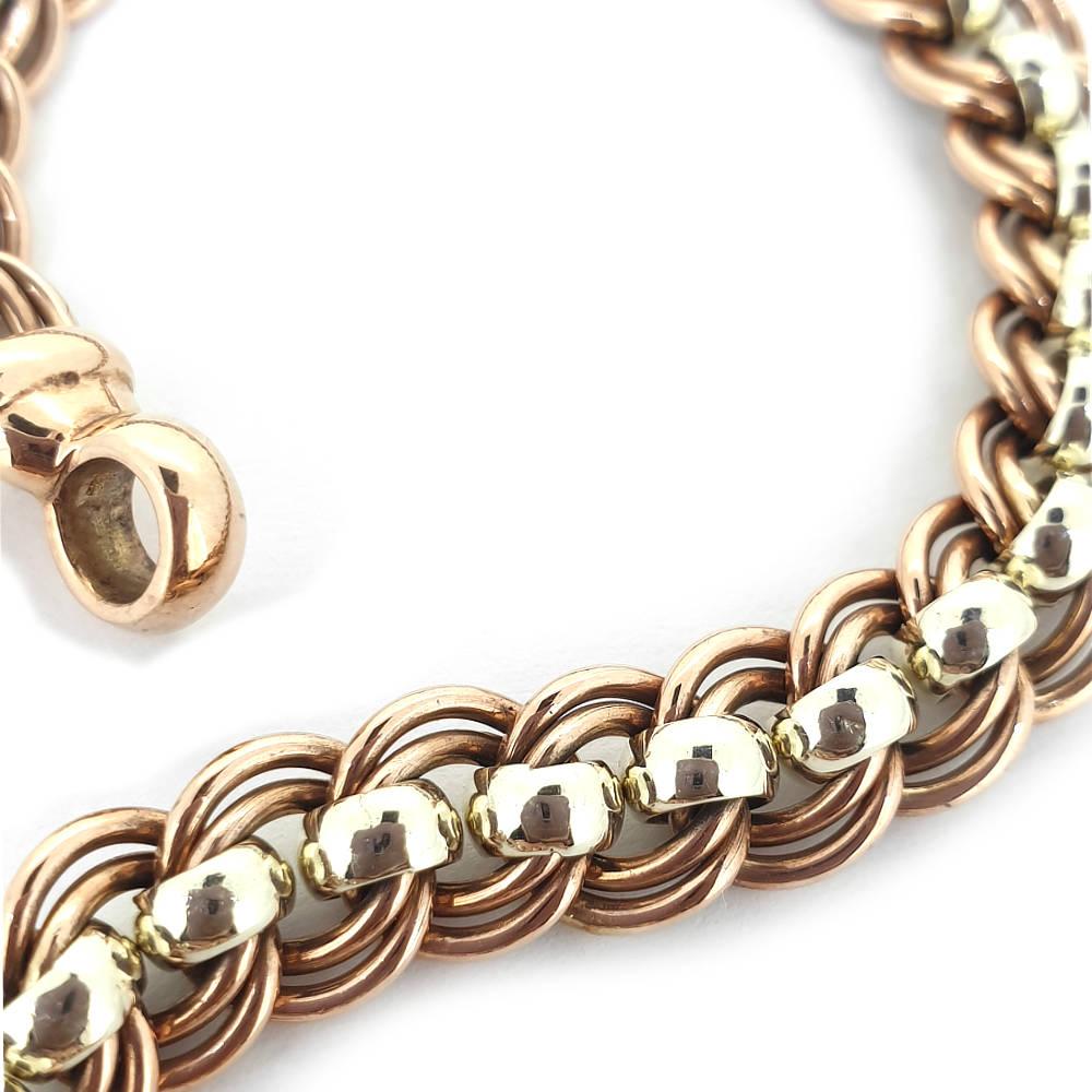 Handmade Two-Tone Ladies Bracelet