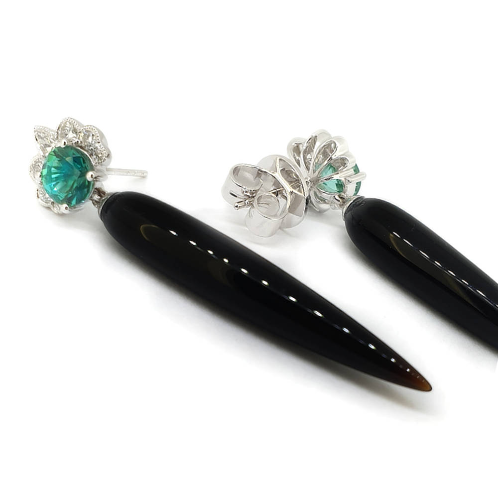 Exquisite Tourmaline and Diamond Earrings