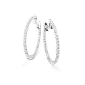 Fine Diamond Set Hoops
