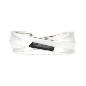 Sterling Silver Cross-over Bangle