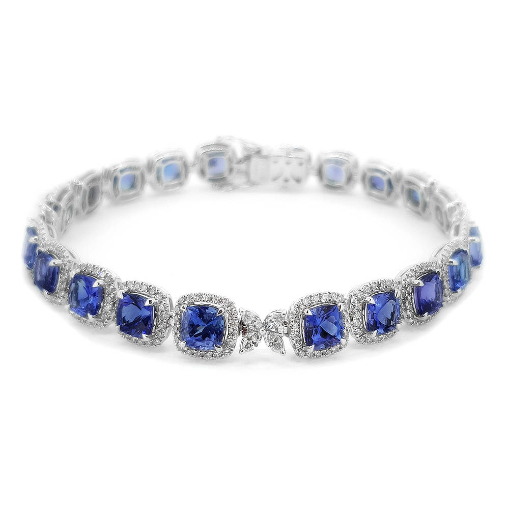 Tanzanite and Diamond Bracelet