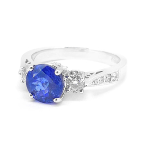Tanzanite and Diamond Set Ring