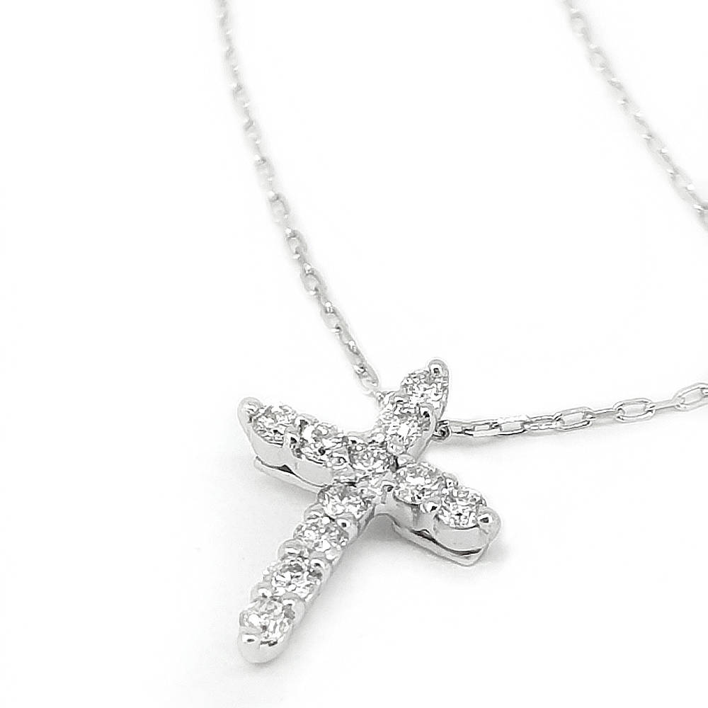 Angelic Diamond Cross Pendant
