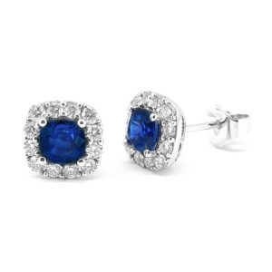 Ceylon Sapphire Diamond Earrings