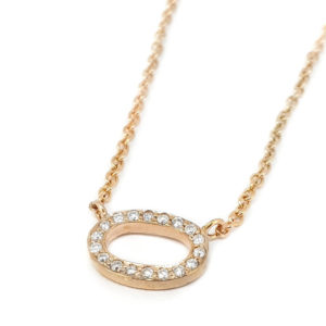 Diamond Set Oval Pendant