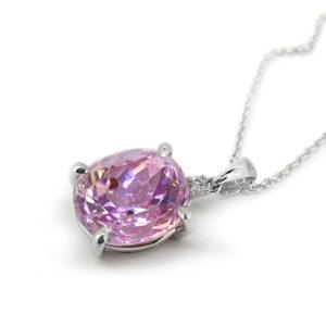 Kunzite Diamond Pendant