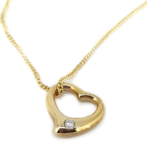 Petite Diamond Set Heart Pendant