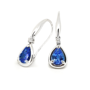 Tanzanite Diamond Drops