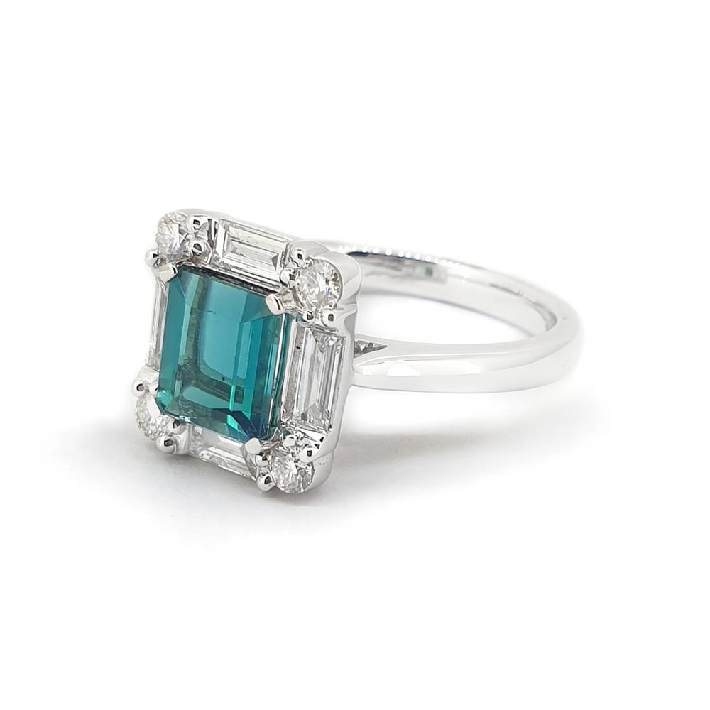 Tourmaline and Diamond Sensation Ring