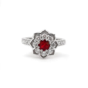 Ruby Lotus Ring