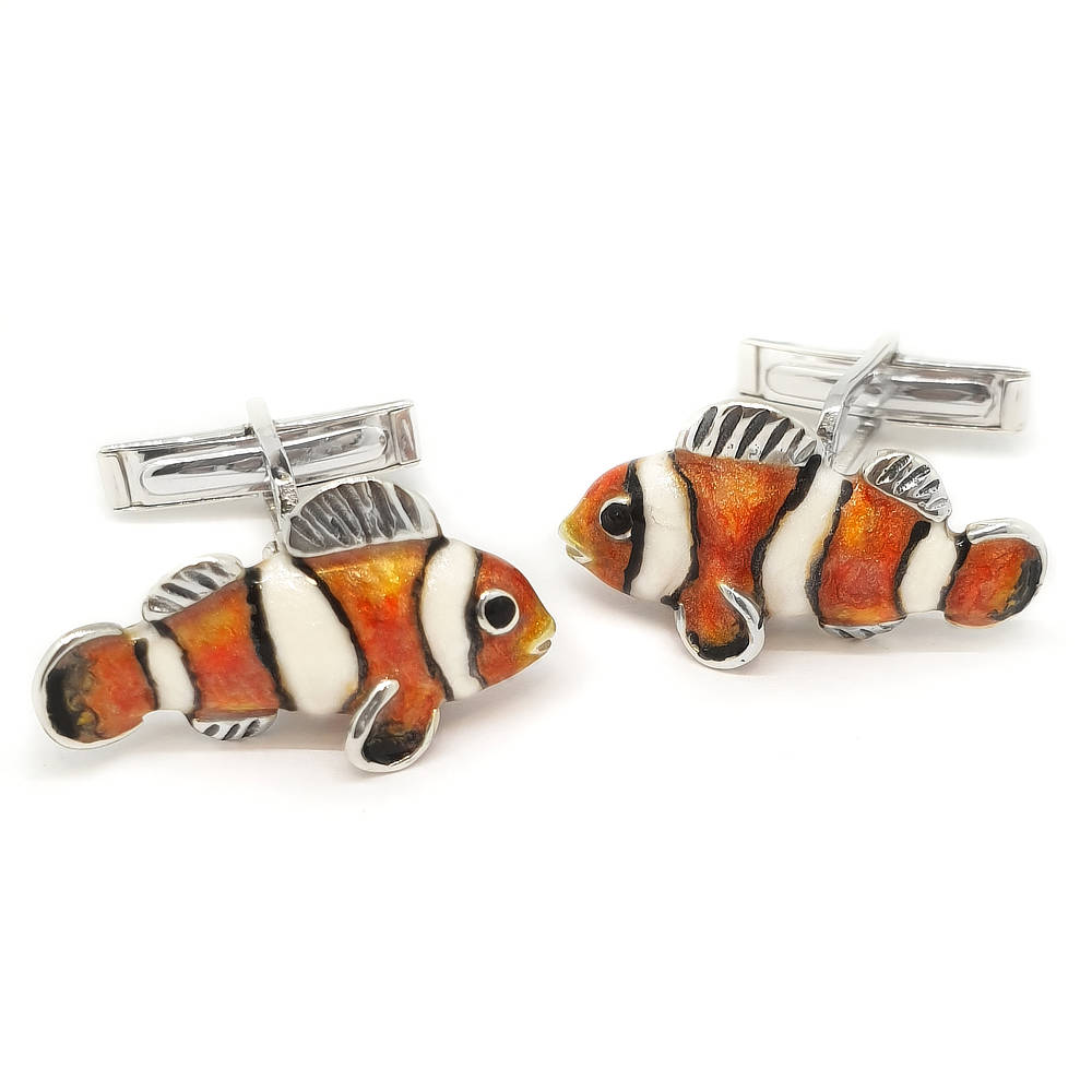 Saturno Clown Fish Cufflinks