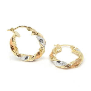 3-Tone Hoop Earrings