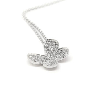 Delicate Diamond Set Butterfly Pendant