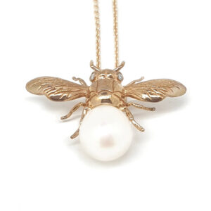 Pearl Set Bee Pendant