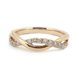 Rose Gold Diamond Twist Ring