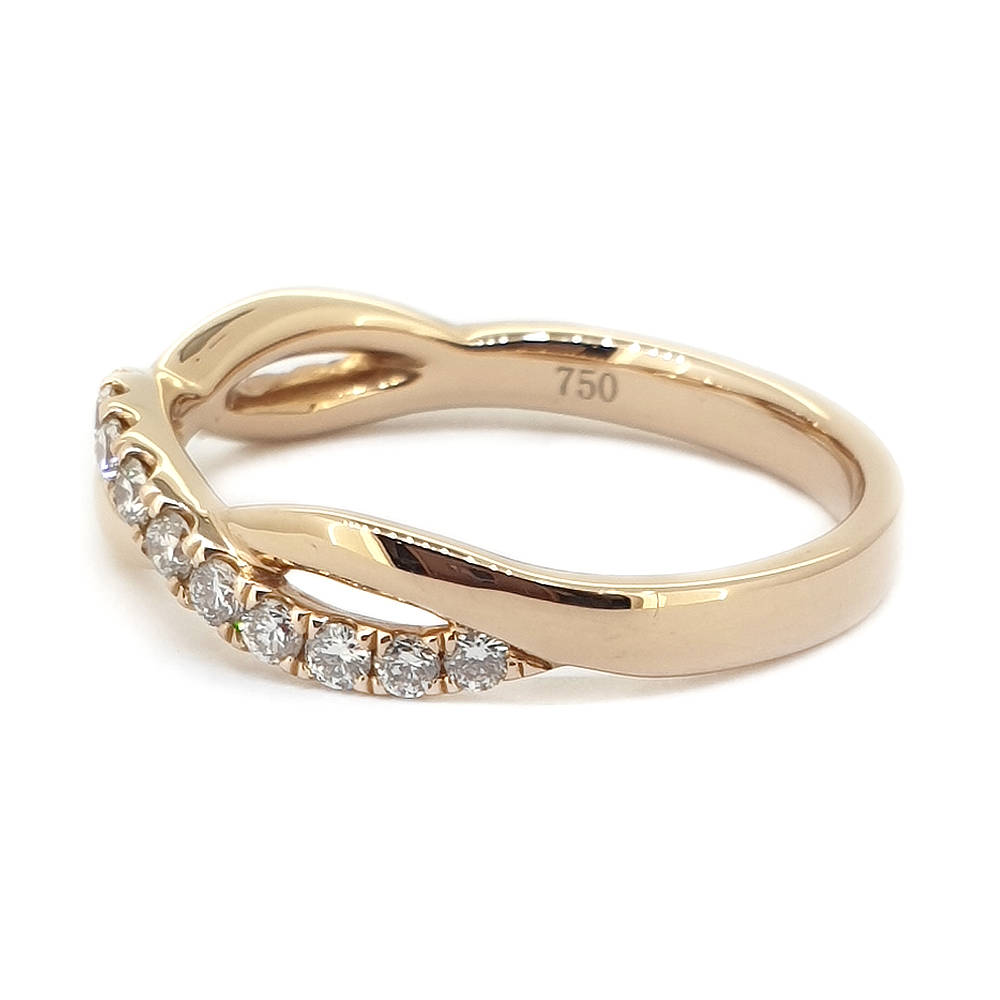 Rose Gold Diamond Twist Ring