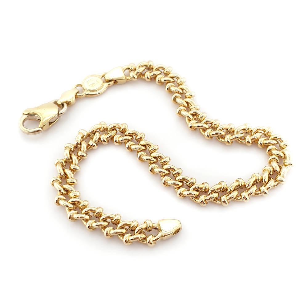 18ct Fancy link bracelet