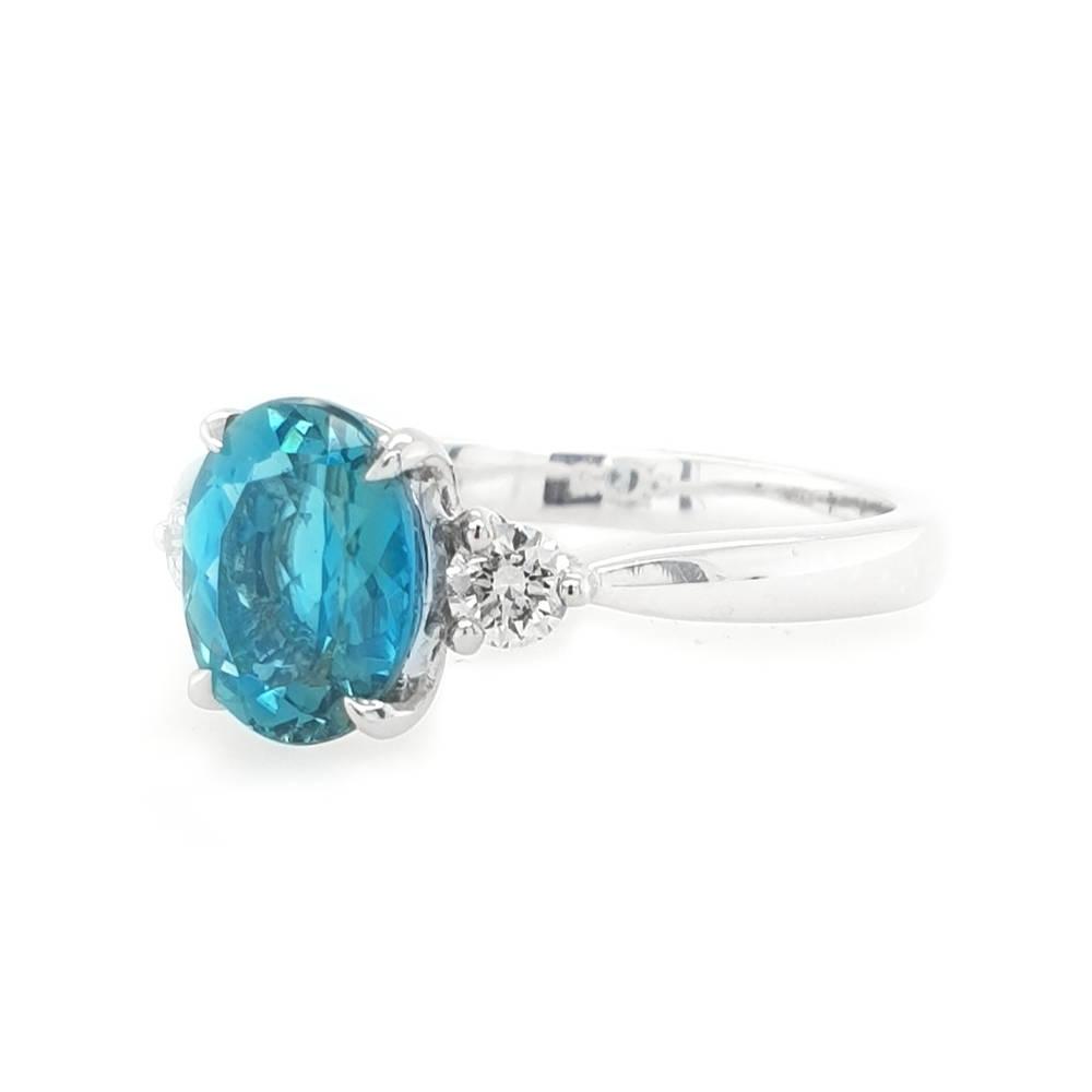 Rare Tourmaline and Diamond ring