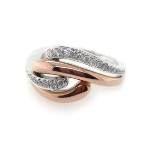 Rose Gold Swirl Ring