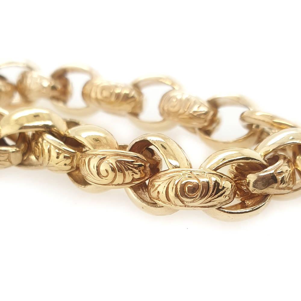 Oval Belcher Link Bracelet