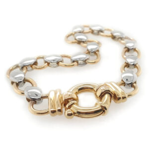 Yellow and White Gold Bracelet