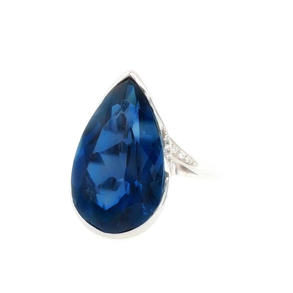 Stunning London Blue Ring