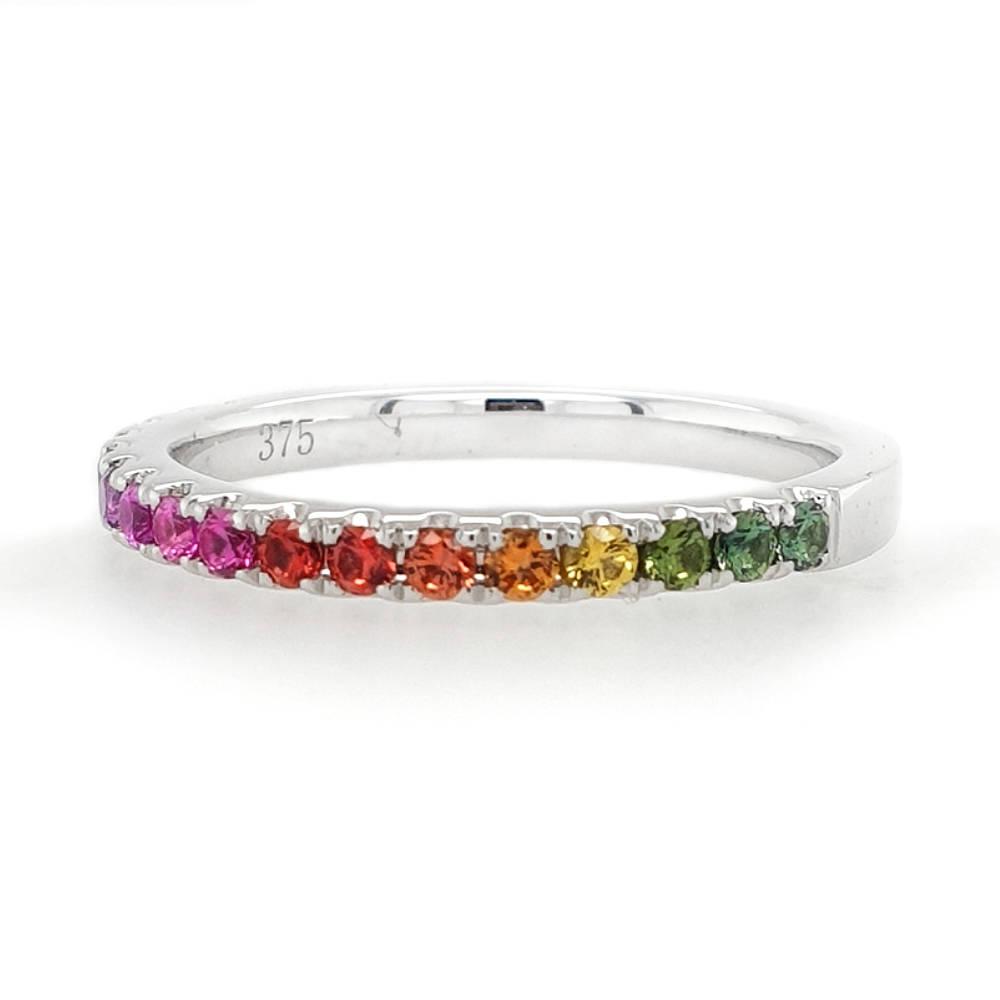 White Gold Rainbow Ring